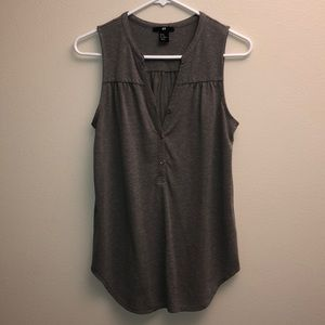 H&M Heathered Army Green Button Tank
